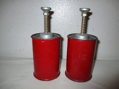 2 Vintage PROTECTOSEAL CO. CHICAGO 236 Spring-loaded Solvent Dispenser Cans
