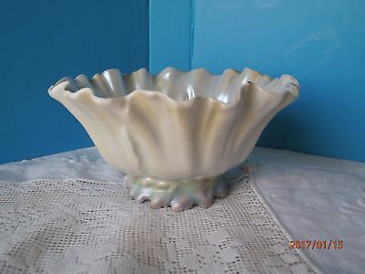 "Royal Bayreuth Poppy Bowl Footed Pearl White 3"" by 6"" Nut Dish Flower"