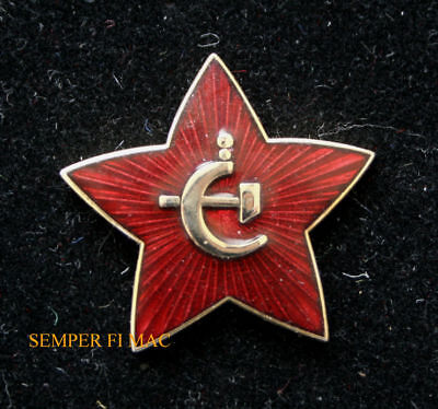 Russian Star Lapel Hat Pin Up Soviet Union Hammer Cycle Army Tie Tac Gift Wow
