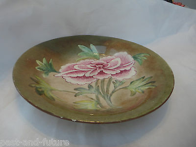 """Unusual Hand Painted Shelley China Bowl,  9 1/4"""" X 1 1/4"""", Signed By Artist"""
