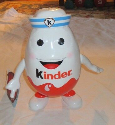 Kinder Plastic Egg Sailor Large 9 1/2 Inch Moveable Arms Collectible Opens