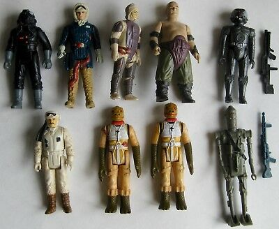 Vtg Lot of 9 Star Wars Bounty Hunters Rebel & Imperial Action Figures  a