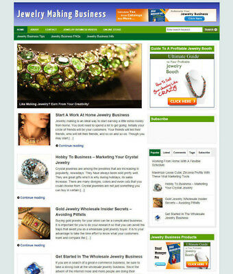 Home Jewelry Making For Profit Blog & Uk Affiliate Store + Free Domain & Hosting
