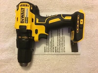 "New Dewalt DCD777B 20V Max 1/2"" Brushless 2 Speed Drill Driver Lithium Ion"