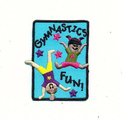 Girl Cub GYMNASTICS FUN meet Class Patches Crests Badge SCOUT GUIDES purple