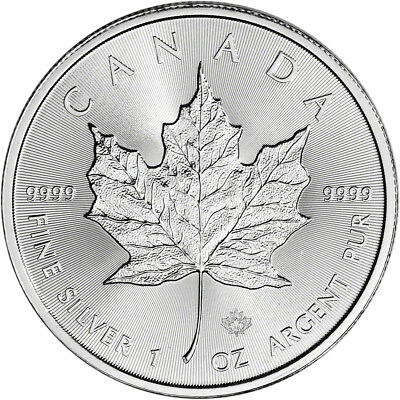 2018 Canada Silver Maple Leaf - 1 oz - $5 - BU