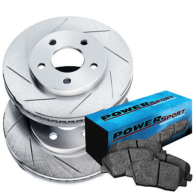 REAR DRILLED SLOTTED BRAKE ROTORS AND CERAMIC PADS - 2003 acura tl rotors