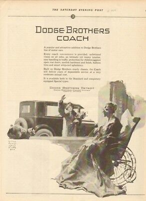 1925 Dodge Brothers 2-Door Coach-Visiting Mother-William Meade Prince Car Art Ad