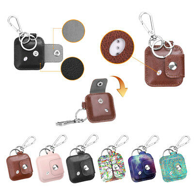 Tile Mate / Tile Sport / Tile Style PU Leather Case Cover w/ Carabiner Keychain