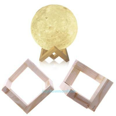 Detachable Magnetic Solid Wood Moon Shaped Lamp Light Holder Bracket Stand Base
