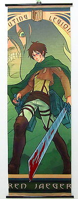 Shingeki no Kyojin Attack on Titan Anime Manga Wallscroll Stoffposter 150x50cm