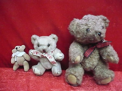 3 Beautiful, Antique Teddy Bears _