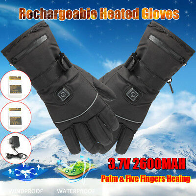 3 Levels Rechargeable Battery Power Unisex Winter Electric Heated Warm Gloves