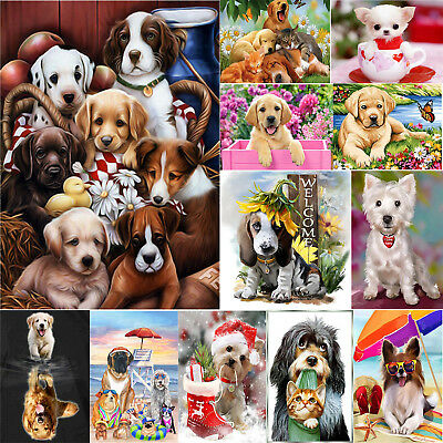 DIY 5D Puppy Dog Series Diamond Painting Embroidery Cross Stitch Handwork Crafts