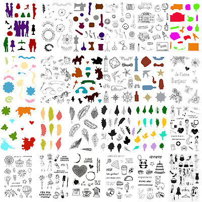 1x Sheet Metal Cutting Dies Stencil+Stamps Frame Scrapbooking Paper Card Craft