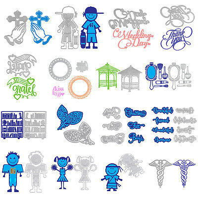 Metal Cutting Dies DIY Embossing Stencil Die Cutter Scrapbooking Album Crafts