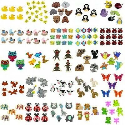 Dress It Up Buttons Embellishment Novalty Farm Zoo Animals Insects Birds Fish