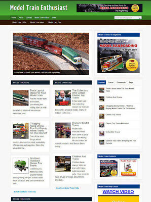 Model Trains Affiliate Store Website With Free Domain And Hosting