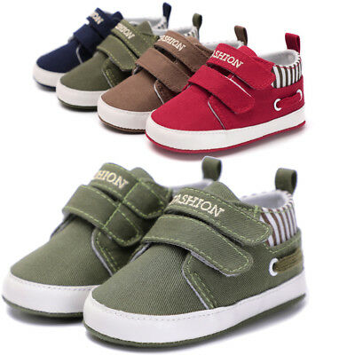 Toddler Baby Girls Boys Solid Soft Sole Anti-slip Sneakers Canvas Crib Shoes Hot