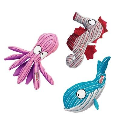 New Kong Cuteseas - Octopus Whale Seahorse - Dog / Puppy Plush Fetch Play Toy