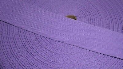 38mm Polypropylene Webbing - Herringbone Weave - LILAC - 50/Fifty metres