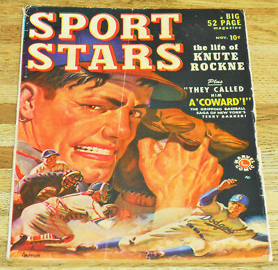 Golden-age SPORT STARS no.1 Timely Marvel Atlas Comics 1949 KNUTE ROCKNE