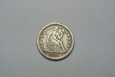 1842 Seated Liberty Dime, VF Condition - C4750