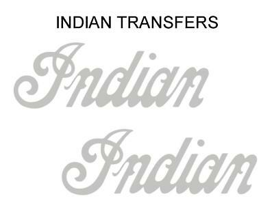 Indian Tank Transfer Decal American Motorcycle Pair D50928 Silver Large