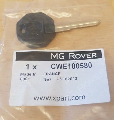 Mgtf Mgf Key Blank (New & Genuine Mg Rover ) Cwe100580