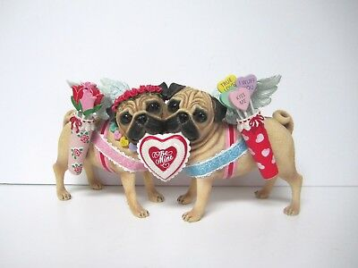 "Cupid Pug Dogs ""Be Mine"" Figurine"