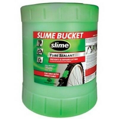 Slime Tube Sealant, 5 Gallon Container, for All Tires with Tubes, Non-Toxic, Sin