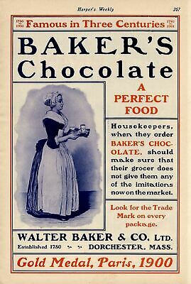Baker's Chocolate A Perfect Food Walter Baker & Co. Dorchester Massachusetts