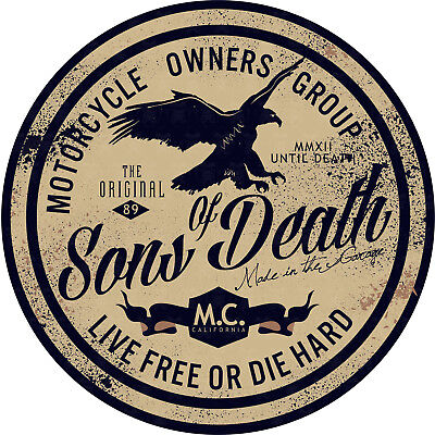 Oldschool Biker 1% Aufkleber Sticker MC USA Chopper Motorrad V2 Sons of Death