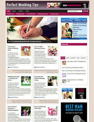 Perfect Wedding Uk Affiliate Website / Blog For Sale + Store & Free Domain