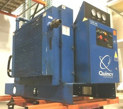 Quincy QSB40 Rotary Screw Air Compressor Belt-Drive A/C 40HP 200-208V 3Ph 48kHRS