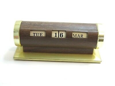 Vintage Mid Century Park Sherman Perpetual Desk Calendar Paperweight Made In Usa