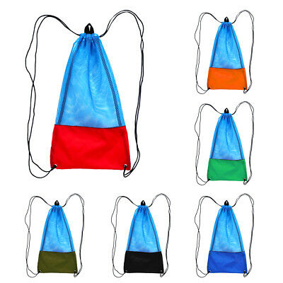 Draw String Mesh Bag for Dive Diving Gear Fins Mask Snorkel SCUBA Snorkeling