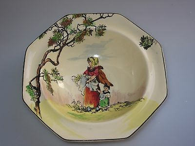 Royal Doulton The Gleaners Scene Octagonal Bowl