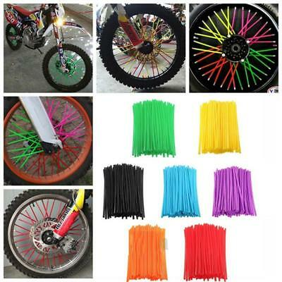 Nice Motorcycle Wheel Spoke Wraps Kit Rims Skins Covers Guard Protector SC