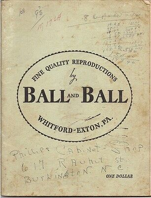 1964 Ball & Ball Fine Quality Reproductions Hardware Catalog WHITFORD - EXTON PA
