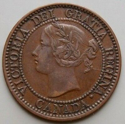 1859 Canada Canadian Large 1 Cent Coin Queen Victoria - Haxby # PC59-441