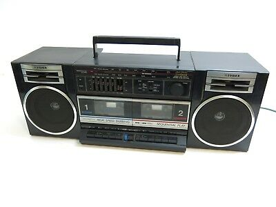 Vintage Fisher Ph-W702 Am Fm Stereo Radio Dual Cassette Boombox Radio 23""