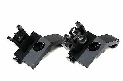 Rapid Transition Front & Rear Flip Up 45 Degree Offset Backup Iron Sight Hunting