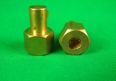 13mm Male Dinse Reduction Adaptor 9mm Female Bore Compact Brass Body TIG/MIG 2Pc
