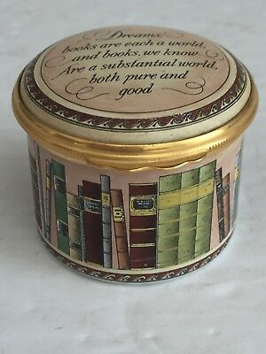 Halcyon Days Enamels WORDSWORTH QUOTE LIBRARY Trinket Box Sonnet 1807