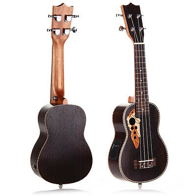 "21"" Professinal Soprano EQ Electro Acoustic Ukulele Uke 15-Frets Hawaii Guitar"