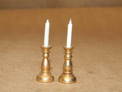 Vtg 19th Century American Antique Style Brass Miniature Candle Holders