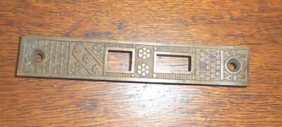 Vintage Eastlake cast brass face from door lock