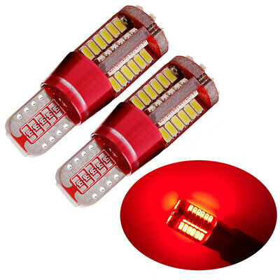 2x T10 Red Light CANBUS ERROR FREE 501 194 W5W 3014 57SMD Car LED Lights Bulbs