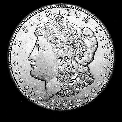 1921 S ~**ABOUT UNCIRCULATED AU**~ Silver Morgan Dollar Rare US Old Coin! #706